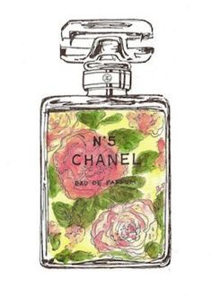 Flower Bottle Chanel No 5 Print by EtsyPrints on #Etsy