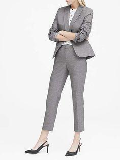 42b2d68877c Banana Republic Petite Classic-Fit Heathered Blazer Suits For Women