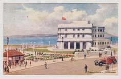 139] MIDLAND HOTEL MORECAMBE LANCS---WATER COLOUR BY CARRUTHERS