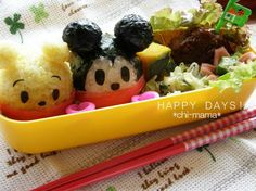 Mickey & Pooh onigiri bento