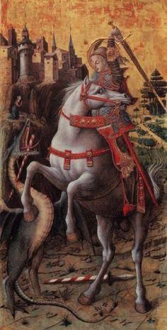 Crivelli, Carlo (b-c, 1433)- Saint George Slaying Dragon