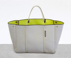 'Escape' bag - DUAL TONE Grey/Neon Yellow from State of Escape