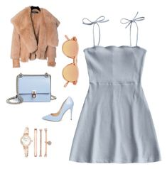 """""""Pretty little girl"""" by jessica-trisanti on Polyvore featuring Steve Madden, Balmain, Fendi, Chimi and Anne Klein"""