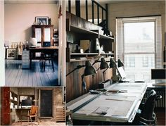 masculine rustic office - Yahoo Image Search Results