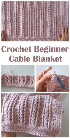 Crochet Cable Blanket for Beginners Learn to crochet this super cute and interesting cable blanket which is beginner friendly but professionals will find it very useful too Crochet Afghans, Crochet Cable, Manta Crochet, Crochet Stitches Patterns, Baby Blanket Crochet, Diy Crochet, Crochet Designs, Crochet Crafts, Crochet Projects