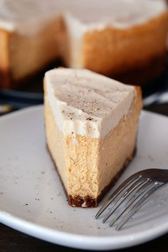 Pumpkin White Chocolate Mousse Cheesecake http://www.recipesfeedfood.com/pumpkin-white-chocolate-mousse-cheesecake/