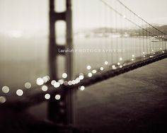 """San Francisco Photograph - Golden Gate Bridge - Abstract Travel - Black and White Photography - Architecture - """"Meet Me in San Francisco"""" on Etsy, $15.00"""