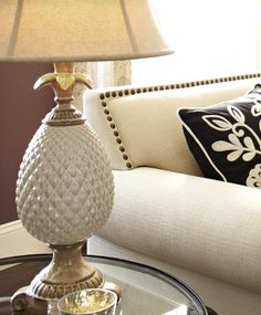Extend a serene welcome to guests with our Pineapple Lamp