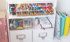 Meu organizador de canetas e sugestões de como você pode fazer o seu - DIY porta treco, lápis, canetinha, stabilo, planner, papelaria