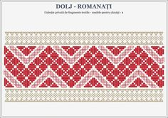 Semne Cusute: romanian traditional motifs (for shirts) - OLTENIA. Lace Patterns, Beading Patterns, Folk Embroidery, Tapestry Crochet, Hama Beads, Pixel Art, Swatch, Projects To Try, Cross Stitch