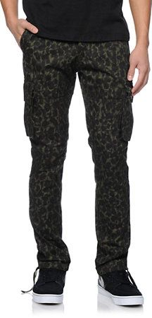 10677094798a8a Trukfit Cheetah Camo Green Cargo Pants