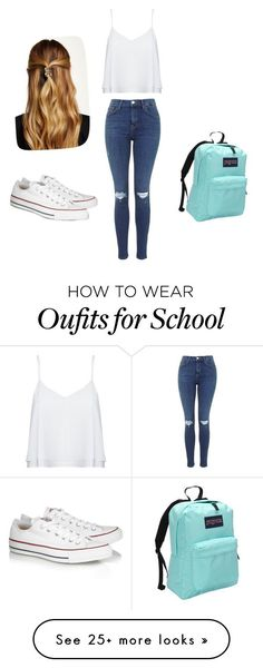"""School Day"" by asmaa-elhage on Polyvore featuring Alice + Olivia, Converse, Natasha Accessories and JanSport"