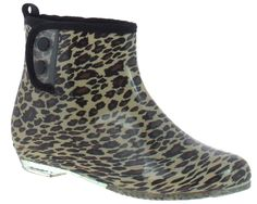 Capelli New York Ladies Leopard Printed Short Bootie Rain Boot With Snap Button Closure >>> Read more  at the image link.