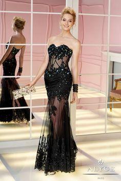 Siyah Dantelli Uzun Abiye Modelleri 2014 | StyleKadın