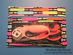 A handmade window zip pouch is a great gift for a stitcher, quilter or crafter!