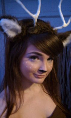 Deer Makeup/Deer ears & antlers! I could be a deer and my bf, Hunter, could be a hunter! haha :)