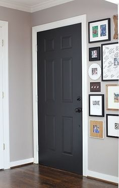 The power of paint dark painted interior french doors painting black suede behr paint painting interior doorspainting planetlyrics Image collections