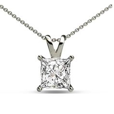 This is a Beautiful 0.50 ct Solitaire Double Bail Pendant With April Birthstone Diamond, representing Luck.