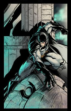 Batman on Gargoyle by LazerBat