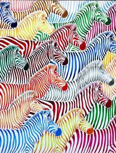 Zebras via Saatchi online. Saatchi Online, Zebras, Giraffes, Zebra Art, Zebra Painting, Painting Art, Art Plastique, Animal Design, Love Art