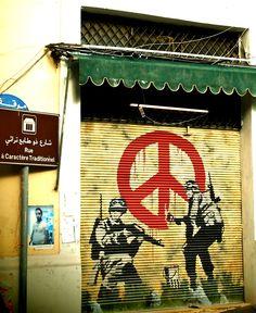 Graffiti art on Beirut streets