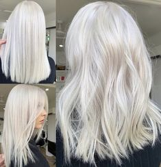 long blonde hair goals Lace Frontal Gray Wig Black Girl Clown Wig Annabelle Wigs Hair Store B Shebelt mall Blond Rose, White Blonde Hair, Dyed Blonde Hair, Platinum Blonde Hair, Bleach Blonde Hair, Gray Hair, White Ombre Hair, Icy Blonde, Silver Blonde