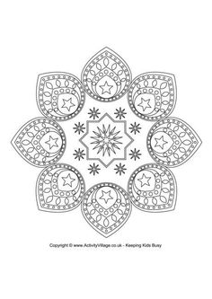 EID DESIGN colouring page, FREE download