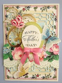 "ANNA GRIFFIN ""HAPPY MOTHER'S DAY"" HANDMADE BIRTHDAY GREETING CARD"
