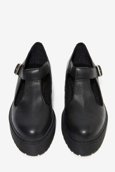 Jeffrey Campbell Teleri Leather Mary Janes - Oxfords | Jeffrey Campbell |  | Flats | Shoes