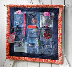 Jean Pocket Organizer: Now I know what to do with the pockets when I finish my jean quilt.