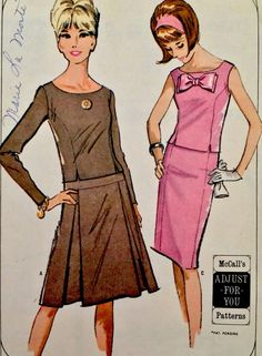 1960's Vintage Pleated Camisole Dress New McCalls Sewing Pattern 3768 FF   eBay