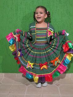 vilma criaçoes: Vestidos de Quadrilha Moda 2013