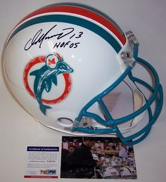 a81b892830e Dan Marino Autographed Hand Signed Miami Dolphins Throwback Authentic Helmet  - PSA/DNA