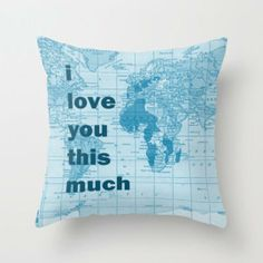 Personalized Map Pillow by Mapology | Hatch.co