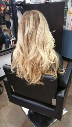 Results from a Balayage Ombre technique with Fluid Hair Painting