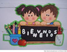 Carteles de bienvenida en foami para colegio - Imagui