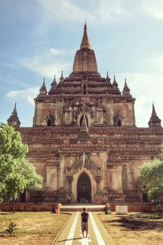 Can anyone else see the face in the temple? Huge empty temples are still there for exploring in Bagan - even the big ones can be hidden.