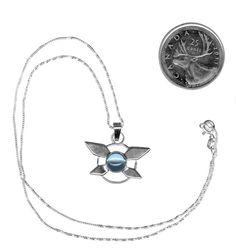 Sterling Silver Navi Fairy Necklace from Legend of Zelda, Ocarina of Time Video Game Fan Art Jewelry