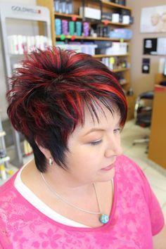 Elumen - Hair and beauty - Funky Short Hair, Edgy Hair, Short Hair Cuts, Short Hair Styles, Corte Y Color, Alternative Hair, Funky Hairstyles, Hair Highlights, Hair Trends