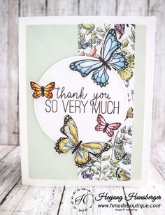 Hello Everyone! I made another card using Botanical Butterfly Designer Series Papers. This Botanical Butterly Designer paper is my favorite free set from the 2019 Sale A Bration. Stamping Up Cards, Butterfly Cards, Handmade Birthday Cards, Paper Cards, Homemade Cards, Paper Design, Your Cards, Making Ideas, Thank You Cards