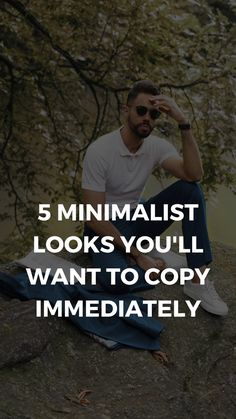 5 Minimalist Looks You'll Want To Copy Immediately Mens Fashion Blog, Best Mens Fashion, Man Fashion, Fashion Outfits, Bohemian Men, Minimalist Outfits, Types Of Guys, Type I, Minimalist Lifestyle