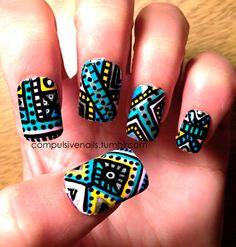 Aztec/Tribal design. I'm in love xx