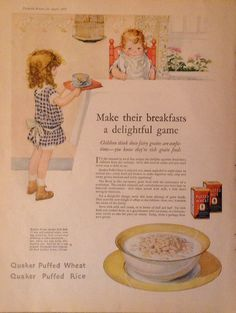 Delightful 1925 Quaker Puffed Wheat by TheVintageEmpress on Etsy, $6.00
