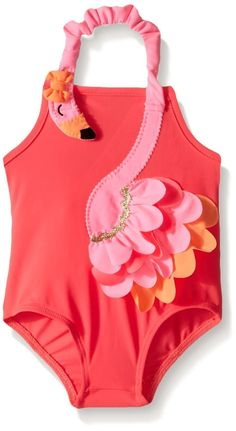 Amazon.com: Mud Pie Little Girls' Flamingo Swimsuit: Clothing