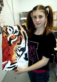 Cropped Animal Portrait Paintings: Art I | Lessons from the K-12 Art Room