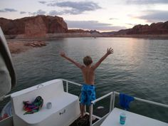 3. Houseboat at Lake Powell.