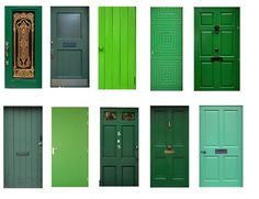 LS Hoof   *doors 10* Collection Of Beautiful Green Door. Full Perm +  Scripted