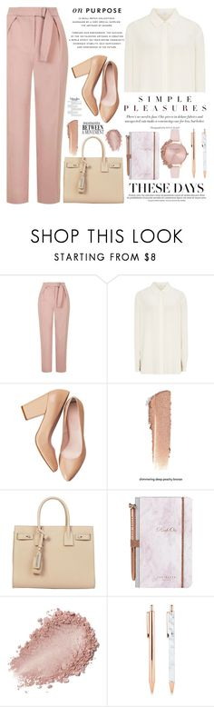 """Work Wear"" by annaclaraalvez ❤ liked on Polyvore featuring Topshop, H&M, Yves Saint Laurent, Ted Baker, Olivia Burton, Anja, WorkWear, office, Work and officewear"
