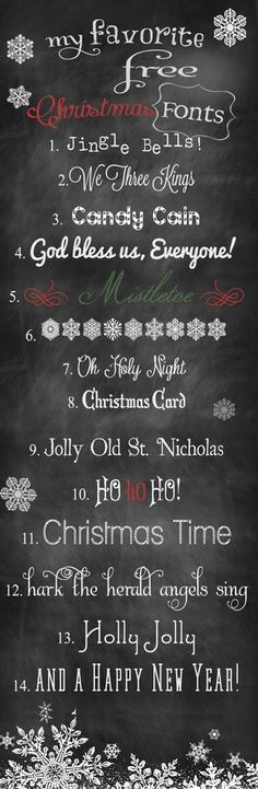 14 FREE Beautiful Holiday Fonts! - Click image to find more Design Pinterest pins