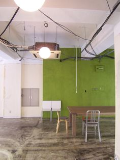 "Japanese Office Painted in ""Banana Leaf"" green by Sydney Harbour Paint Company."